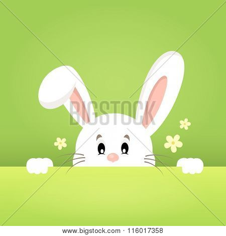 Image with lurking Easter bunny theme 1 - eps10 vector illustration.