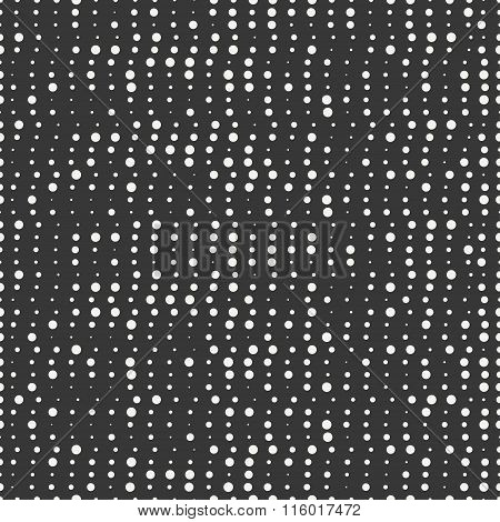 Polka dot. Geometric monochrome abstract hipster seamless pattern with round, dotted circle. Wrappin