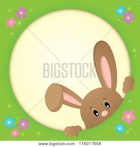 Image with lurking Easter bunny theme 3 - eps10 vector illustration.