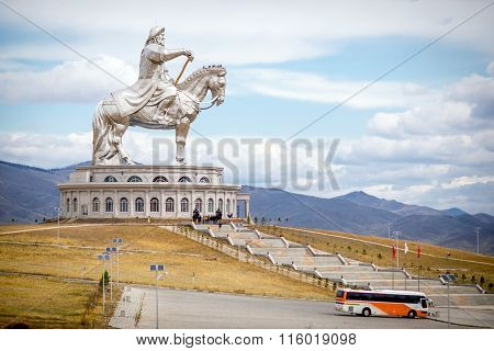 The world's largest statue of Genghis Khan