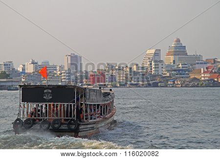 riverscape in Bangkok, the capital of Thailand