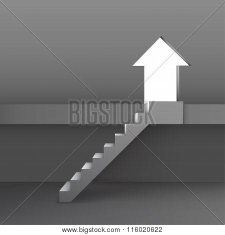 Arrow Shaped Door, Symbolizing Improvement Or Success
