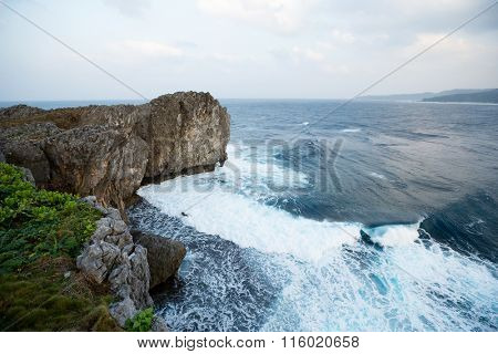 Sea and cliff