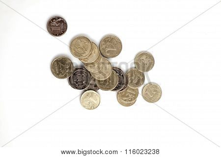 Rubles On A White Background