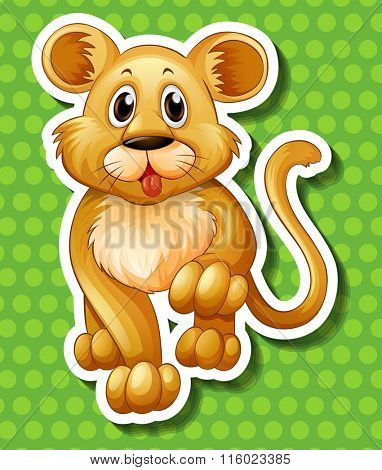 Cute little cub walking illustration