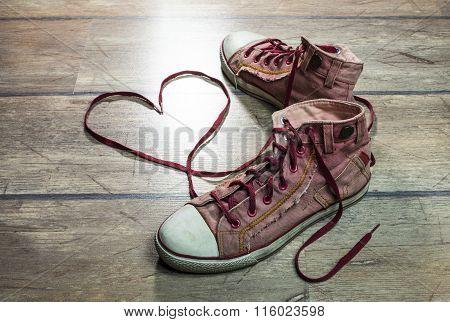 Heart Shaped Shoelaces