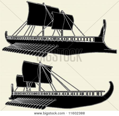 The Ancient Viking Ship Vecto...