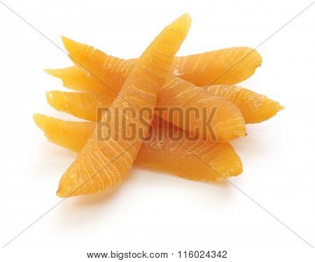 dried herring roe isolated on white background, japanese food