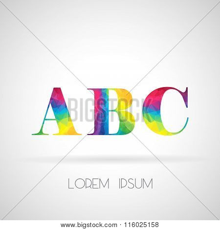 Logo Abstract Polygonal Abc Letter, Design For Corporate Business Identity