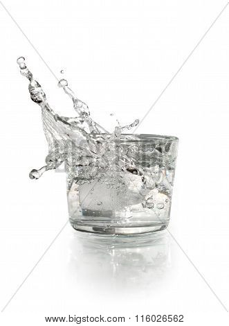 Glass With Splashing Water