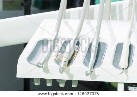 Dental Rack Of Tools.