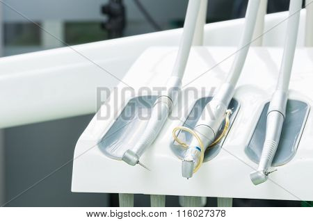 Close-up With Dentist Tools.