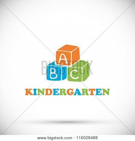 Multicolor Bright Logo Kindergarten