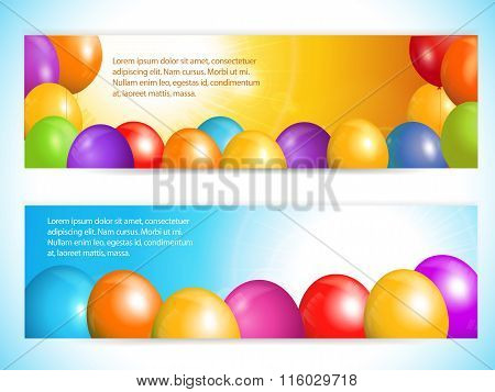 Balloon Banners And Sky