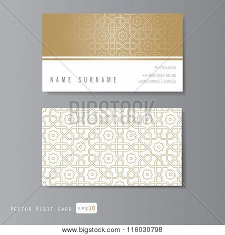 templates set visit card