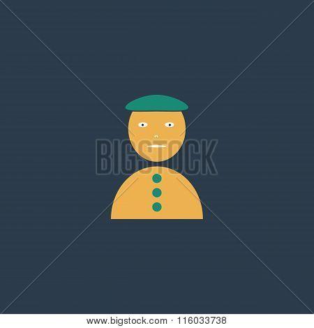 Asian man icon