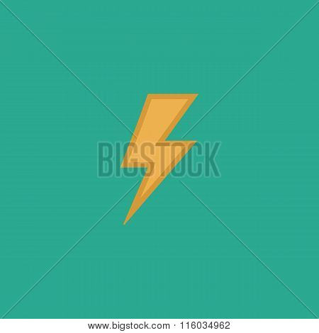lightning bolt flat icon