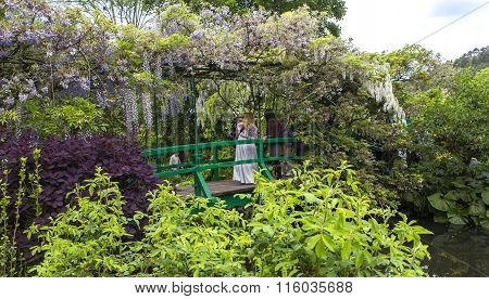 Gardens Of Painter Claude Monet In Giverny, France