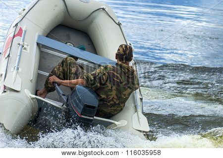 Boat With Splashes