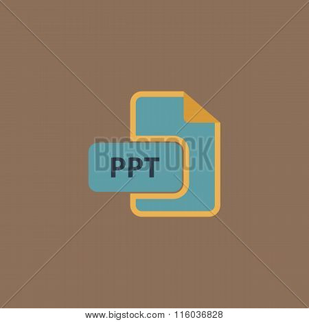 PPT extension text file type icon