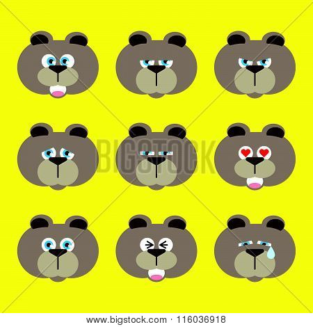 bear emotion icon - emoji