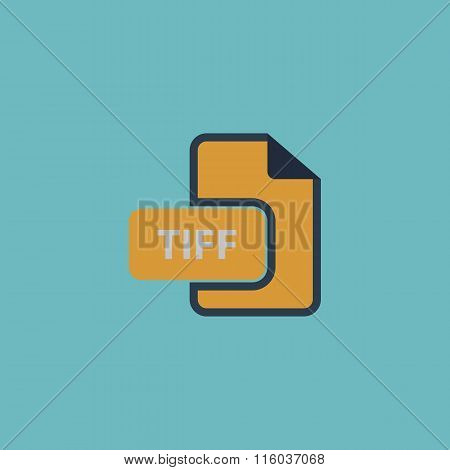 TIFF image file extension icon.