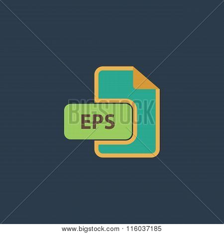 EPS vector file extension icon.