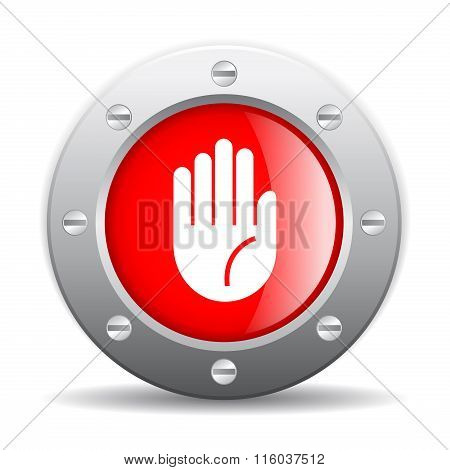 Stop hand icon