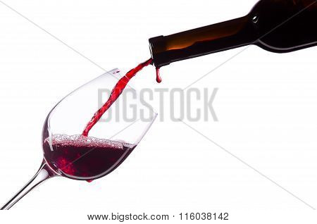 Red Wine On White Background
