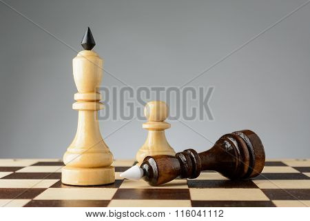 The Black King Is In Front Of White