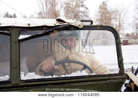 Defender Of Stalingrad In A Winter Form