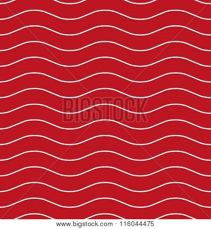 Wavy Line Red Seamless Pattern