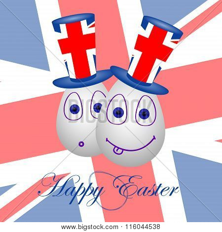 Card Happy Easter For Britain 2