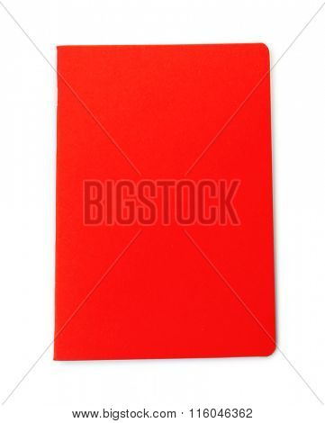 A stylish notebook, isolated on white background