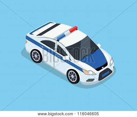 Isometric 3D Police Car
