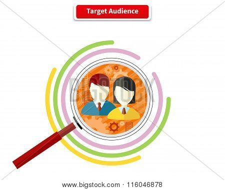 Icon Flat Style Concept Target Audience