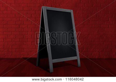 Blank Wooden Menu Blackboard Outdoor Display
