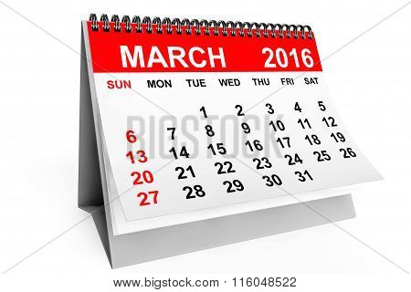 Calendar March 2016