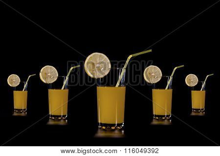 Slices Of Citrus Fruit To Fruit Cups Orange Juice