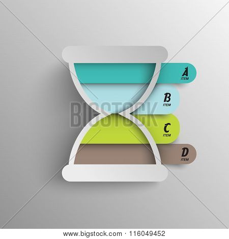 infographics time intervals vector template chart element