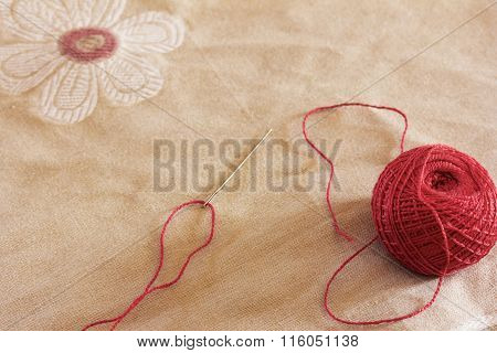 a needle and thread