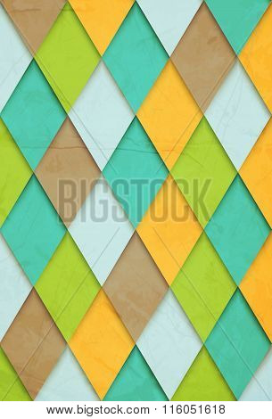 old-fashioned vector background rhombs for your design