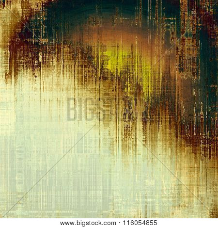 Beautiful vintage background. With different color patterns: yellow (beige); brown; green; white; gray