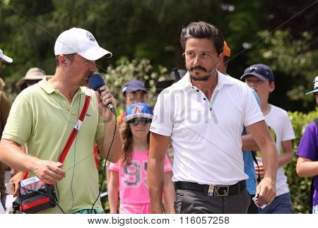 Mike Lorenzo Vera At The Golf French Open 2015