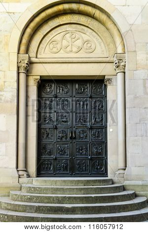 Door At The Grossmunster (great Minster) Church, Zurich,