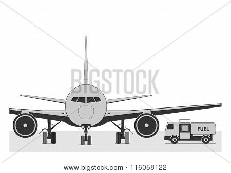 Fueling The Plane