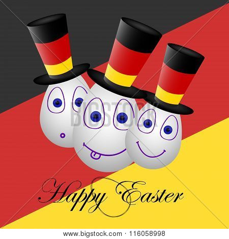 Card Happy Easter For Germany 2