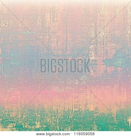 Abstract old background or faded grunge texture. With different color patterns: blue; green; cyan; purple (violet); pink