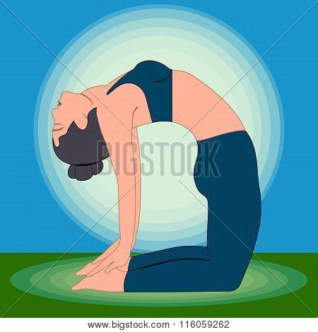 Yoga Exercises  Camel Pose