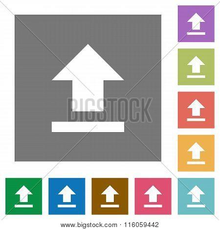 Upload Square Flat Icons